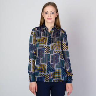 Women's shirt with geometric pattern 11810, Willsoor