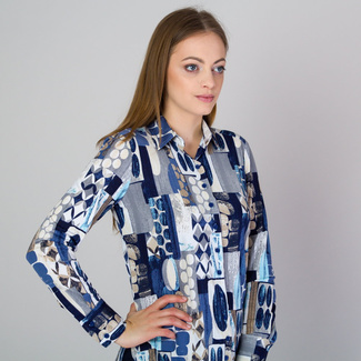 Women's shirt with colorful geometric pattern 11813, Willsoor