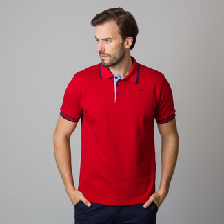 Men's polo shirt in red color 11826