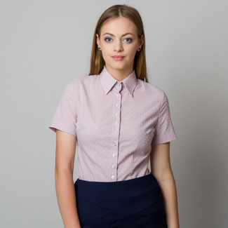 Women's shirt in light pink color with fine raised pattern 11865
