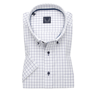 Men's classic shirt with dark blue check pattern 11871, Willsoor