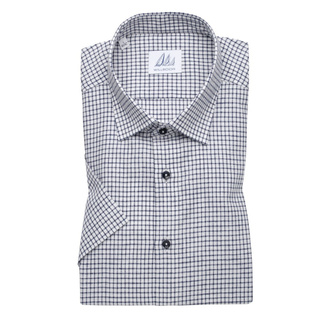 Men's  Slim Fit shirtwith dark blue check pattern 11878, Willsoor