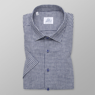 Men's Slim Fit shirt with blue-white check pattern 11880