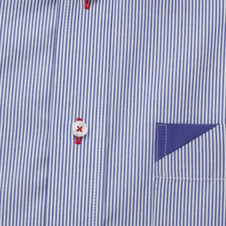 Men's classic shirt with fine striped pattern 11887, Willsoor