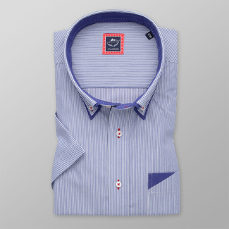 Men's classic shirt with fine striped pattern 11888