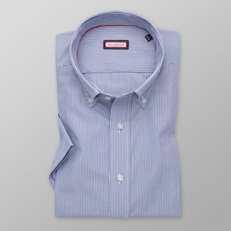 Men's Slim Fit shirt with fine dark blue pattern 11889