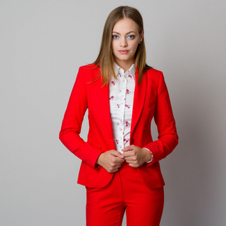 Women's suit jacket in red-orange color 11898, Willsoor
