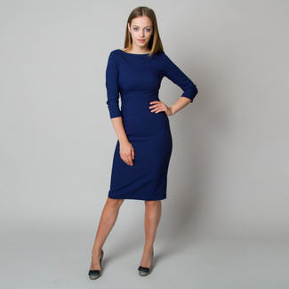 Midi dress in dark blue color 11899, Willsoor