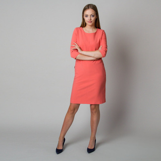 Midi dress in salmon color 11904, Willsoor