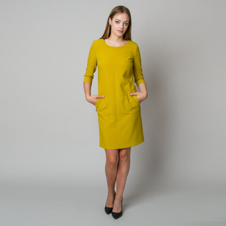 Midi dress in mustard color 11906, Willsoor