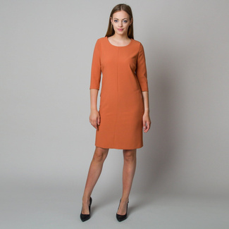 Midi dress in brick color 11907, Willsoor