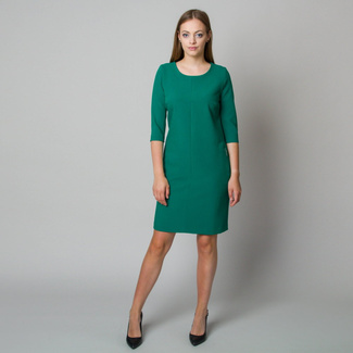 Midi dress in dark green color 11908, Willsoor