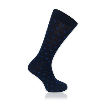 Men's socks with fine blue pattern 11910, Willsoor
