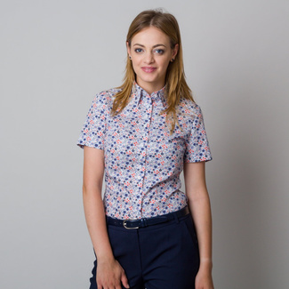 Women's shirt with fine floral pattern 11916, Willsoor