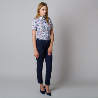 Women's shirt with colorful floral pattern 11917, Willsoor