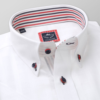 Men's Slim Fit shirt in white color with contrast elements 11931, Willsoor
