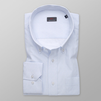 Men's shirt classic with delicate light blue pattern 11988, Willsoor