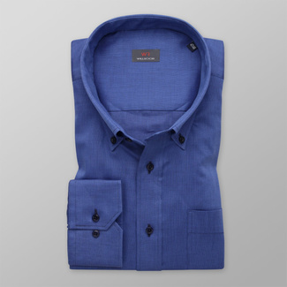Men's dark blue shirt classic 11994, Willsoor