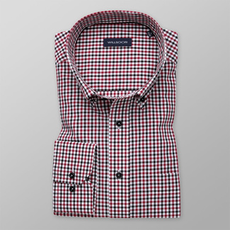 Men's shirt classic with red a black pattern 11997, Willsoor