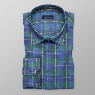 Men's shirt classic with blue and green pattern 12007, Willsoor
