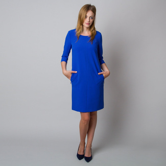 Midi dress in cobalt blue color 12072, Willsoor