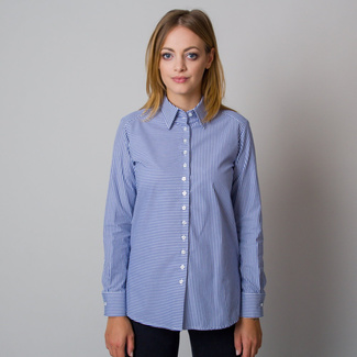 Women's shirt with a blue striped pattern 12077
