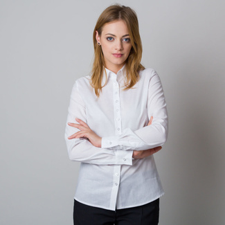Women's white shirt with a stylish back print 12081