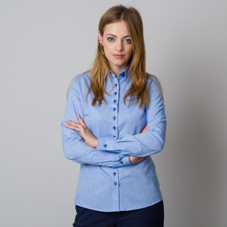 Women's blue shirt with a stylish back print 12082
