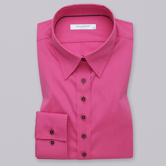 Women's pink shirt with a smooth pattern 12085
