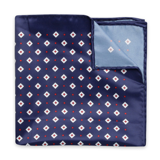 Handkerchief to pocket with a geometric pattern 12132