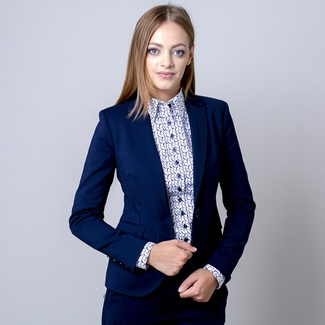 Women's blazer Long Size dark blue color 12137, Willsoor