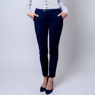 Women's pants Long Size dark blue 12138, Willsoor