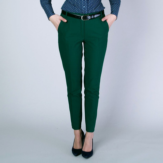 Women's pants Long Size dark green 12142, Willsoor