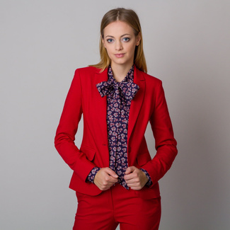 Women's blazer Long Size in red color 12143, Willsoor