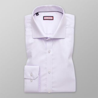 Men's shirt Extra Slim Fit light purple with smooth pattern 12163, Willsoor