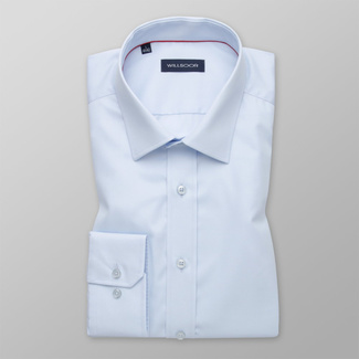 Men's Slim Fit light blue shirt with smooth pattern 12164, Willsoor