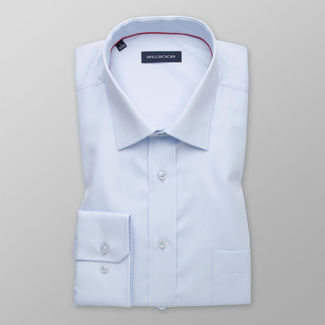 Men's classic light blue shirt with smooth pattern 12165, Willsoor