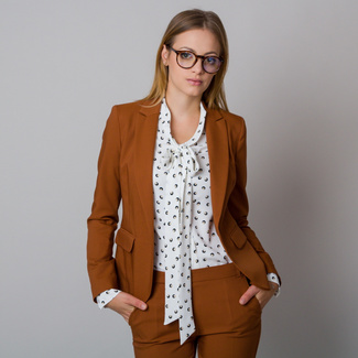 Women's jacket cinnamon color with smooth pattern 12180, Willsoor