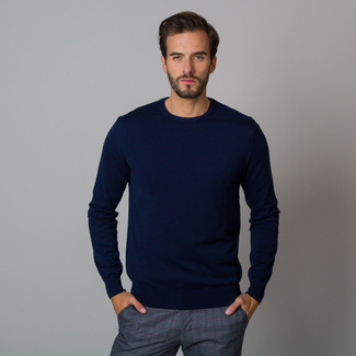 Men's jumper in dark blue color 12192