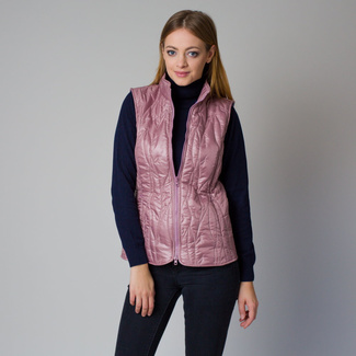 Women's quilted vest in a pink color 12204, Willsoor