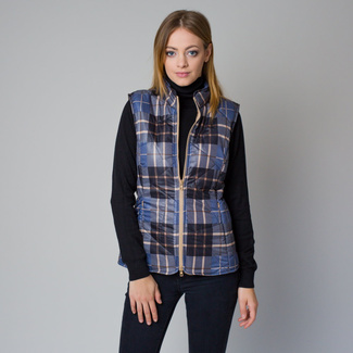 Women's quilted vest with a chequered pattern 12209, Willsoor