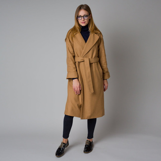 Women's coat in brown color 12213, Willsoor