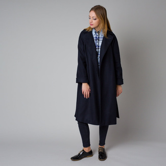 Women's coat in dark blue color 12214, Willsoor