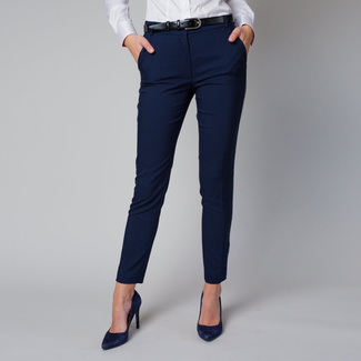 Women's formal trousers with a white side stripe 12221