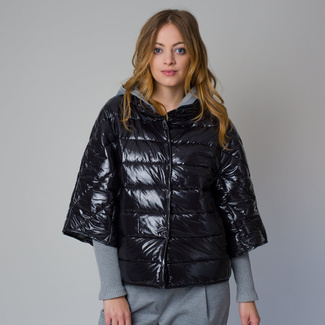 Women's quilted jacket in a black color 12224, Willsoor