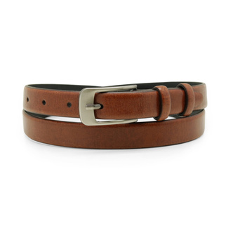 Women's leather belt brown color 12239