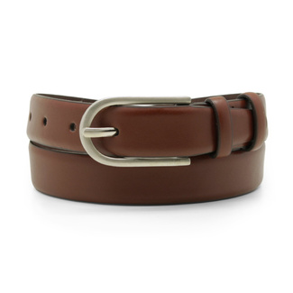 Women's leather belt in brown color 12240