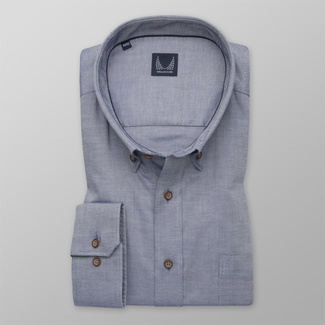 Men's shirt in a classic blue-grey color 12273
