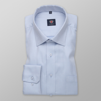 Men's classic shirt with fine geometric pattern 12284