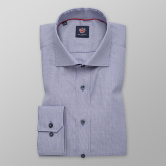 Men's Slim Fit shirt in light blue with fine pattern 12291